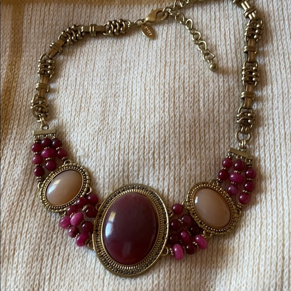 Pink and cream statement Necklace
